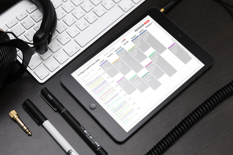 WebRadioInStore configura radio calendario